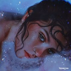 Art by Marzia Palomba L'art Du Portrait, Digital Portrait, Art Anime Fille, Anime Art Girl, Digital Art Girl, Aesthetic Art, Aesthetic Drawing, Cartoon Art, Digital Illustration