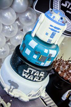 IMAGINE: Star Wars Bolo Star Wars, Tema Star Wars, Star Wars Cake, Star Wars Party, Nice Birthday Messages, Birthday Wishes For Mom, Birthday Celebration, Birthday Card Template, Birthday Invitations Kids