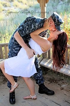 Military Couples Photography by KayLa Ocasio