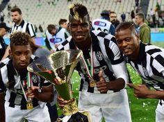 Pogba word kampioen in de itiliaanse competitie met Juventus