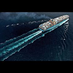 Beautiful picture of the Emma Maersk vessel.