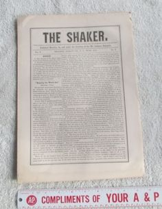 1871-The-Shaker-Monthly-Journal-Newspaper-Vol-1-No-6-Mt-Lebanon-NY-Bishopric