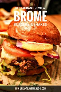 Brome Burgers & Shakes is a casual gourmet-burger restaurant in Dearborn, Michigan. Read the full restaurant review today on EpicureanTravelerBlog.com!