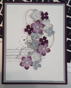 Petite Petals with Thread by dwv - Cards and Paper Crafts at Splitcoaststampers