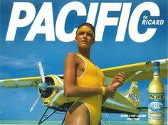 Pub Pacific - Années 80 -ChansLau demande : vous vous souvenez des empreintes de pieds mouillés de la fille qui marche sur le ponton ?