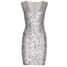 Alice + Olivia Low Sequin Dress