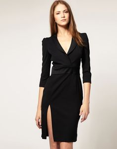 french connection tuxedo dress - Google Search