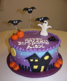 Awesome Picture of Halloween Themed Birthday Cakes . Halloween Themed Birthday Cakes 62 Easy Halloween Cakes Recipes And Halloween Cake Decorating Ideas Halloween Cupcakes, Halloween Torte, Pasteles Halloween, Bolo Halloween, Halloween Birthday Cakes, Custom Birthday Cakes, Themed Birthday Cakes, Theme Halloween, Halloween Treats