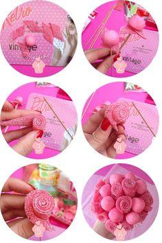 etapes DIY bonbons