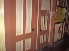 Winchester mystery house: Mrs. Winchester herself was of a very small stature. The door on the left is normal-sized. The one on the right was built for Mrs. Winchester.