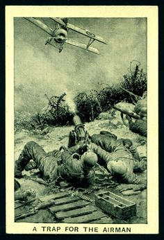 "The Champion boys comic ""Great War Deeds"" (series of 32 issued in 1928) #13 A Trap for the Airman"
