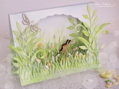 Fabulous world of Alice's Rabbit ; 3d Cards, Paper Cards, Cricut Cards, Card Making Inspiration, Pretty Cards, Card Tags, Flower Cards, Vintage Cards, Greeting Cards Handmade