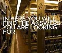 find your answers at the library