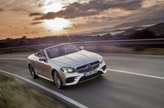 Das neue E-Klasse Cabriolet mit klassichem Stoffverdeck kombiniert puristisches und sinnliches Design für vier Personen.
