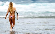 Alana Blanchard.... who wouldn't want to start surfing when you see girls with bums like this...     My bikini body motivation!