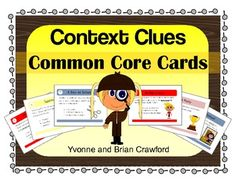 Context Clues Task Cards is a book filled with 40 task cards that you can use to create fun activities.