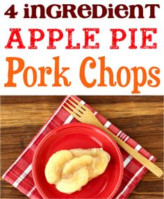 Slow Cooker Pork Chops Easy! Apple Pie Filling Crockpot Recipes are so delicious! Crockpot Apple Pie, Delicious Crockpot Recipes, Easy Dinner Recipes, Crockpot Meals, Dinner Ideas, Spring Recipes, Easter Recipes, Apple Recipes, Pork Recipes
