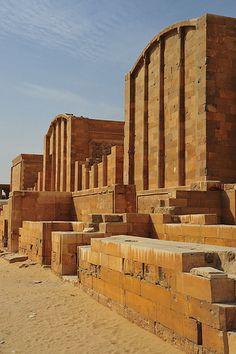 Chapels Djoser step pyramid Saqqara Egypt
