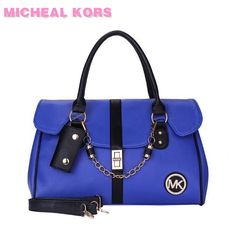 Michael Kors Sac Fashion Logo Chaîne Grand Bleu Satchels À Prix Réduit