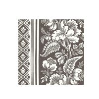 """Victoria Hagan LOVELY LOUISE: CHARCOAL 4008-06 100% LINEN Half Drop 54"""" Wide, Repeat: 18""""V, 27""""H"""