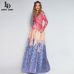 Women's Elegant Voile Bird Floral Flowes Embroidery Long Dress That`s just superb! www.storeglum.com... #shop #beauty #Woman's fashion #Products