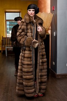 PLEASE do not wear real fur! Stop the support of massacring innocent animals for your own vanity! long sable fur coat