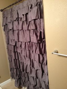 My new ruffle shower curtain!! DIY