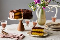 Yellowest Yellow Cake With Fudgy Chocolate Frosting recipe on Food52
