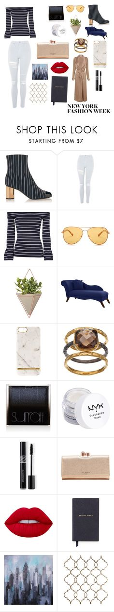 """""""Navy at Nightime"""" by alybug04 ❤ liked on Polyvore featuring Marco de Vincenzo, Topshop, Exclusive for Intermix, Michael Kors, Umbra, Skyline, Richmond & Finch, Olive & Ivy, Surratt and NYX"""