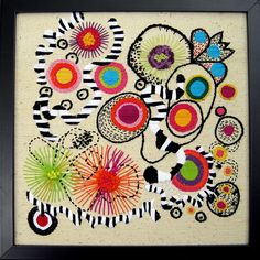 Free Form embroidery on raw cotton #3 by davis.jacque, via Flickr