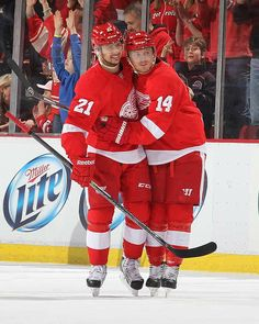 Tomas Tatar & Gustav Nyquist...the Kid Line rocked (& saved) our season this year, 2013-2014!