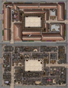 Urban City The Bifrond Bazaar 2 Level Covered Market story lg Fantasy City, Fantasy Places, Fantasy Map, Pathfinder Maps, Pen & Paper, Building Map, Rpg Map, Dungeon Maps, Dungeons And Dragons Homebrew