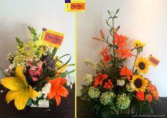 Que te parecen estos arreglos en tonos naranja y amarillo ¿Cuál te gusta más? #DetallesEvelyn