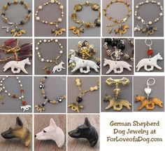 Handmade artisan German Shepherd Dog jewelry at ForLoveofaDog.com
