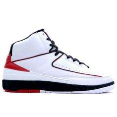new style 5954e bf41e 308308 161 Nike Air Jordan 2 (II)Retro-White Varsity Red-