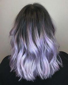 Stunning Shade of Purple Ombre Hair Colors – Schwarze Frisuren Pastel Purple Hair, Lavender Hair Colors, Hair Color Purple, Hair Dye Colors, Cool Hair Color, Lavender Highlights, Black To Purple Hair, Ombre Purple Hair, Light Purple Hair