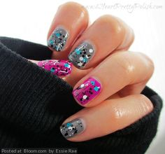 By Essie Rae. I love Nail Polish - Fully Turqued.  Pure Ice Kiss Me Here (Grey) Sinful Colors Dream On (Purple) @Bloom.COM