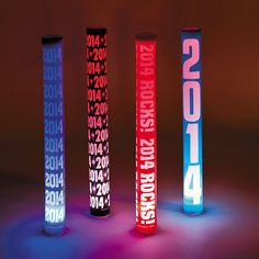 """2014 Light Up Baton - OrientalTrading.com -  If you're planning an awareness event, choose these light-up batons for your glow run or fundraising walk and light up the night. Plastic. Batteries included. (4 pcs. per set) 16"""" © OTC"""