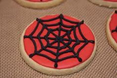 spiderman cookies