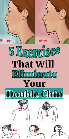 5 Exercises To Avoid Stubborn Double Chin – Herbal Medicine Book Losing Weight Tips, Weight Loss Tips, Lose Weight, Lose Fat, Double Menton, Medicine Book, Health And Fitness Tips, Fitness Hacks, Health Tips