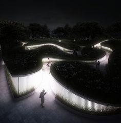 Penda projeta pavilhão inspirado na paisagem natural para a Garden Expo na China,© penda architecture & design