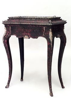 French Victorian misc. furniture fernery inlaid