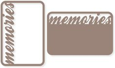 Silhouette Design Store - View Design #26519: memories 4x6 life card