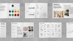 Selbstbewusst im Raster: Flexible Identity für WeWork Corporate Design, Layout Inspiration, Graphic Design Inspiration, Brand Manual, Visual Metaphor, Brand Fonts, Brand Style Guide, Design System, Design Language