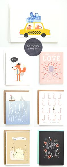 Illustrated and Hand Lettered Greeting Cards | Fable Paper Co.