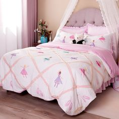 Brandream Pink Ballet Kids Comforter Set Cute Girls Bed Quilt Set Twin Queen Size //Price: $107.30 & FREE Shipping //     #hashtag4