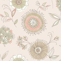 """Brewster Home Fashions Simple Space II Maisie 33' x 20.5"""" Floral Embossed Wallpaper & Reviews   Wayfair"""