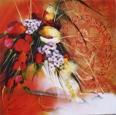 Raymond Poulet Les Oeuvres, Floral Wreath, Painting, Decor, Art, Chicken, Paint, Painted Canvas, Art Background