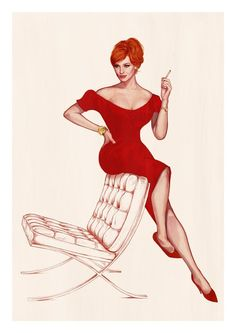 mad men - joan holloway (art by john keaveney)