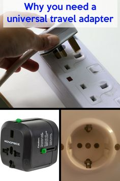travel pins - Best Universal Travel Adapter All in one travel adapters from Monoprice Travel Items, Travel Gadgets, Travel Gifts, Travel Products, Travel Hacks, Road Trip Essentials, Packing Tips For Travel, Travel Info, Travel Guide